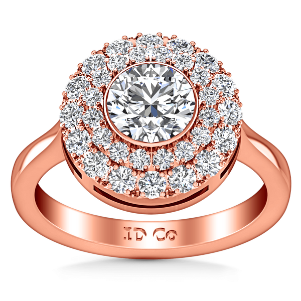 Halo Diamond Engagement Ring Mandy 14K Rose Gold