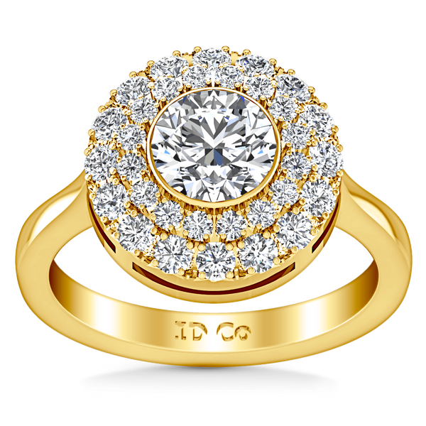 Halo Diamond Engagement Ring Mandy 14K Yellow Gold