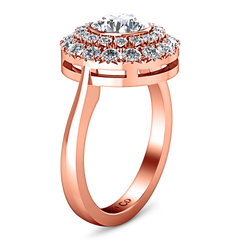 Halo Diamond Engagement Ring Mandy 14K Rose Gold engagement rings imaginediamonds