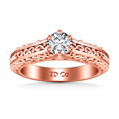 Solitaire Diamond Engagement Ring Whitney 14K Rose Gold