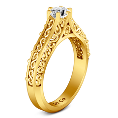 Solitaire Diamond Engagement Ring Whitney 14K Yellow Gold engagement rings imaginediamonds