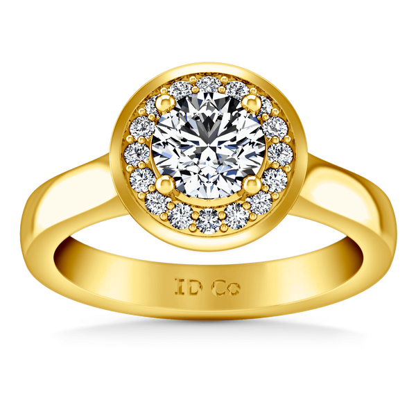 Halo Diamond  Engagement Ring Erica 14K Yellow Gold