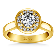 Halo Diamond Engagement Ring Erica 14K Yellow Gold engagement rings imaginediamonds
