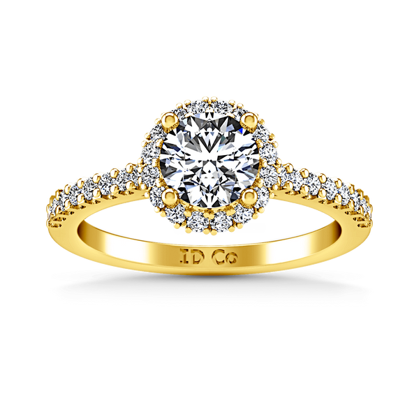Halo Diamond  Engagement Ring Bethany 14K Yellow Gold