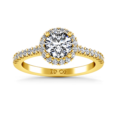 Halo Diamond Engagement Ring Bethany 14K Yellow Gold engagement rings imaginediamonds
