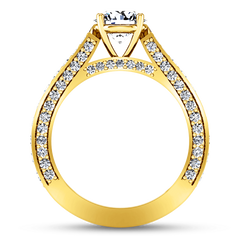 Pave Diamond EngagementRing Elizabeth 14K Yellow Gold engagement rings imaginediamonds
