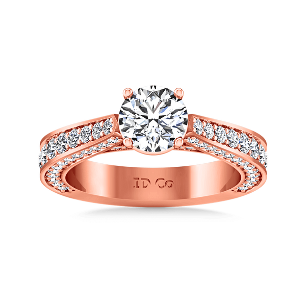 Pave Diamond Engagement Ring Elizabeth 14K Rose Gold