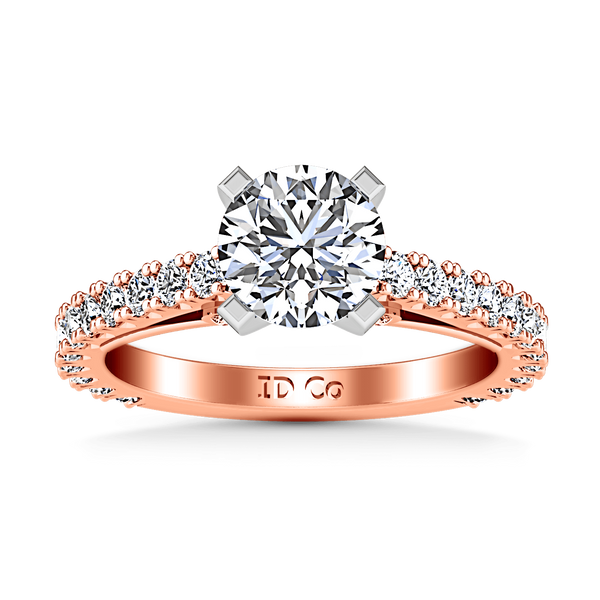Pave Diamond Engagement Ring Eden 14K Rose Gold