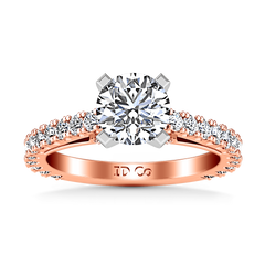 Pave Diamond Engagement Ring Eden 14K Rose Gold engagement rings imaginediamonds