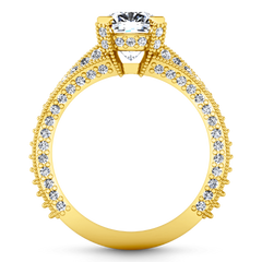 Pave Cushion Cut Engagement Ring Zahra 14K Yellow Gold engagement rings imaginediamonds