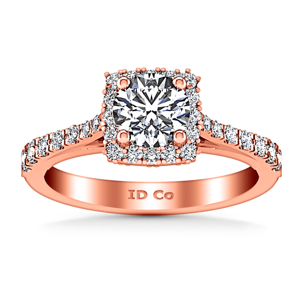Halo Diamond Engagement Ring Mallory 14K Rose Gold