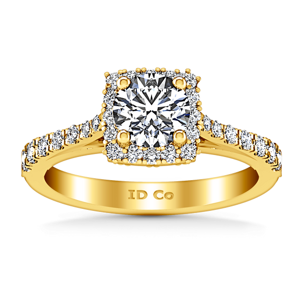 Halo Diamond Engagement Ring Mallory 14K Yellow Gold