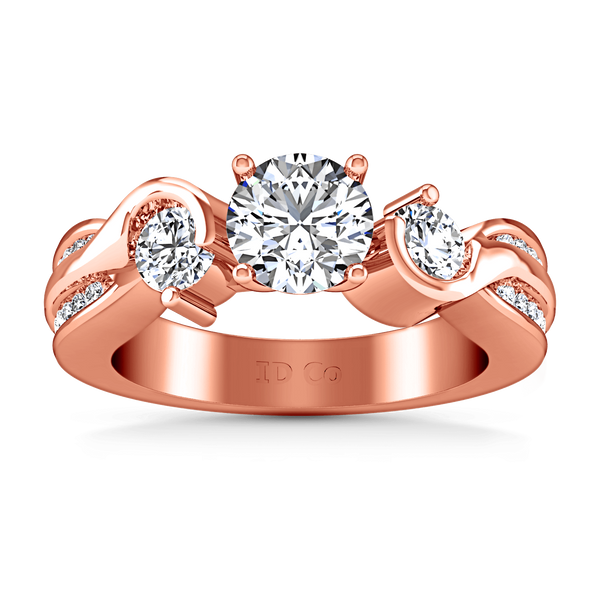 Three Stone Diamond EngagementRing Cosette 14K Rose Gold