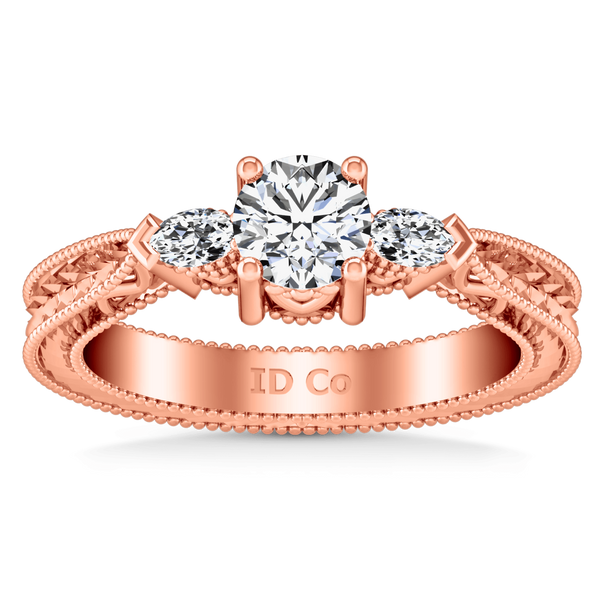 Three Stone Diamond EngagementRing Haven 14K Rose Gold