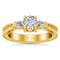 Three Stone Diamond Engagement Ring Haven 14K Yellow Gold engagement rings imaginediamonds