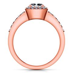 Halo Diamond Engagement Ring Eve 14K Rose Gold