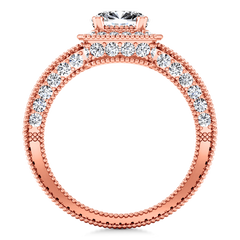 Halo Diamond  Engagement Ring Danica 14K Rose Gold