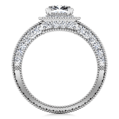 Round Diamond Halo  Engagement Ring Danica 14K White Gold
