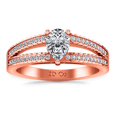 Pave Diamond Engagement Ring Season Pear 14K Rose Gold engagement rings imaginediamonds
