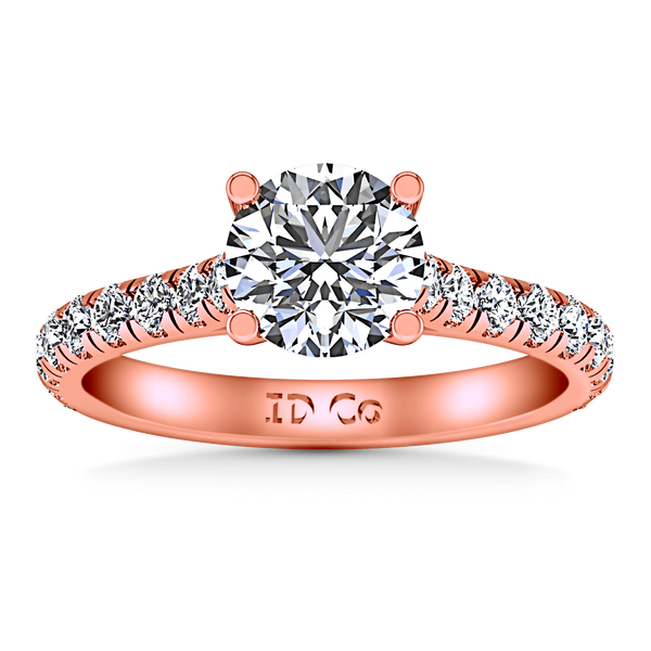 Pave Diamond Engagement Ring Anabelle 14K Rose Gold