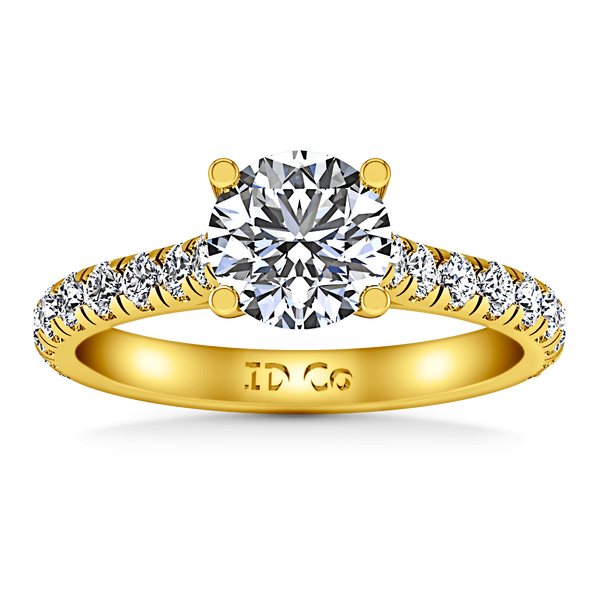 Pave Diamond EngagementRing Anabelle 14K Yellow Gold