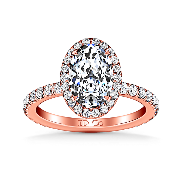 Halo Diamond  Engagement Ring Elsa 14K Rose Gold