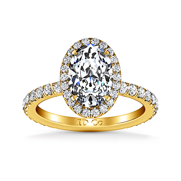 Halo Diamond  Engagement Ring Elsa 14K Yellow Gold