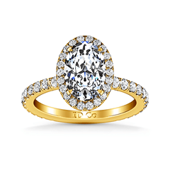 Halo Diamond Engagement Ring Elsa 14K Yellow Gold engagement rings imaginediamonds