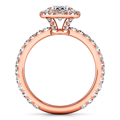 Halo Diamond Engagement Ring Elsa 14K Rose Gold engagement rings imaginediamonds