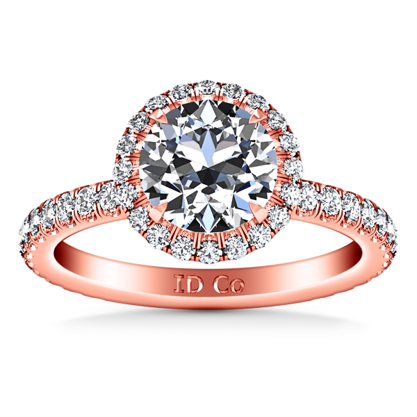 Halo Diamond  Engagement Ring Clayton 14K Rose Gold