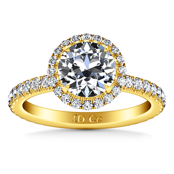 Halo Diamond  Engagement Ring Clayton 14K Yellow Gold