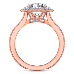 Halo Diamond Engagement Ring Anthea 14K Rose Gold engagement rings imaginediamonds