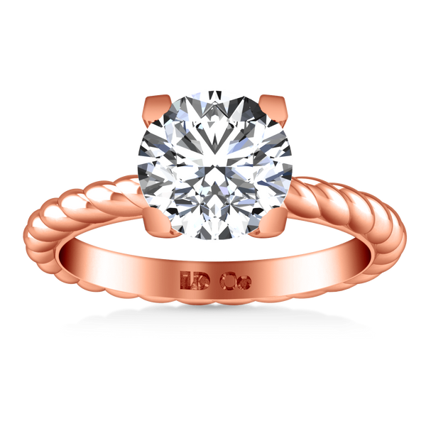 Solitaire Diamond Engagement Ring Ellery 14K Rose Gold