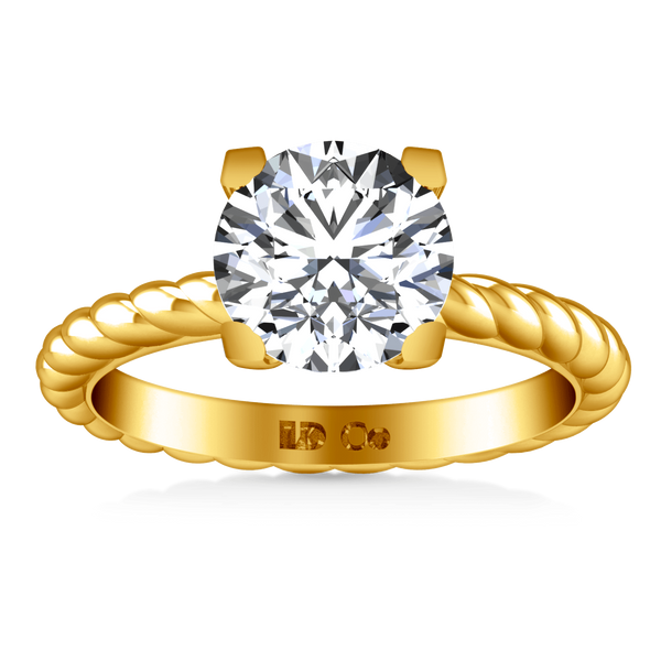 Solitaire Diamond Engagement Ring Ellery 14K Yellow Gold