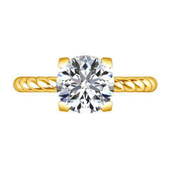 Solitaire Diamond Engagement Ring Ellery 14K Yellow Gold engagement rings imaginediamonds
