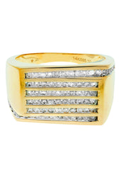 Mens Diamond Pinky Ring| 0.96 Carats| 9.97 Grams