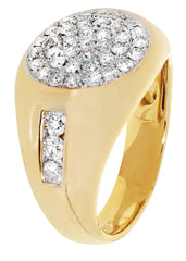 Mens Diamond Pinky Ring| 1.31 Carats| 9.73 Grams