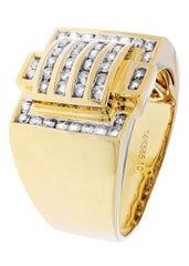 Mens Diamond Pinky Ring| 0.77 Carats| 13.27 Grams