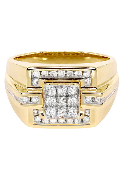 Mens Diamond Pinky Ring| 0.64 Carats| 11.07 Grams