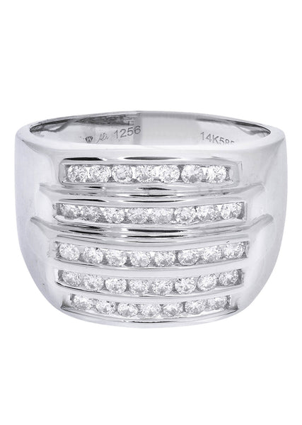 Mens Diamond Ring| 0.82 Carats| 10.91 Grams