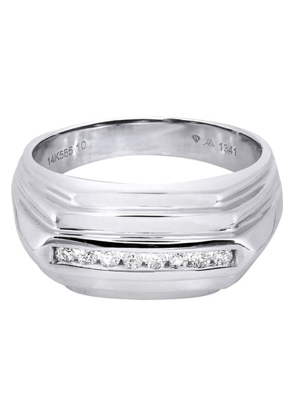 Mens Diamond Ring| 0.19 Carats| 8.42 Grams