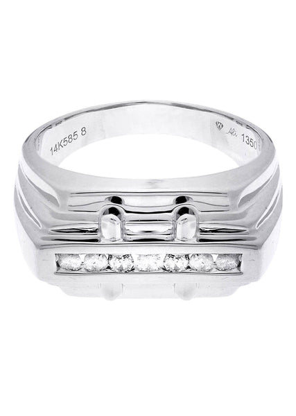 Mens Diamond Ring| 0.18 Carats| 6.57 Grams