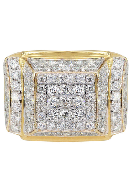Mens Diamond Pinky Ring| 4.09 Carats| 12.42 Grams