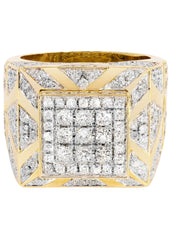 Mens Diamond Pinky Ring| 3.66 Carats| 18.14 Grams