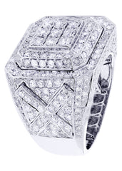 Mens Diamond Ring| 4.96 Carats| 17.42 Grams