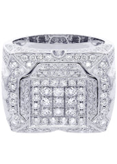 Mens Diamond Ring| 3.71 Carats| 16.37 Grams