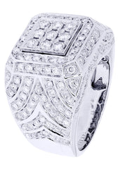 Mens Diamond Ring| 3.36 Carats| 16.25 Grams