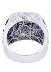 Mens Diamond Ring| 3.4 Carats| 17.9 Grams
