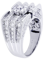 Mens Diamond Ring| 2.56 Carats| 14.72 Grams