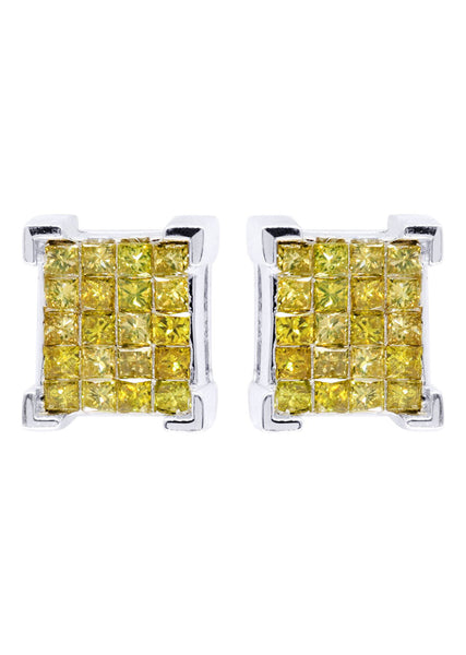 Diamond Earrings For Men | 1.25 Carats 14K White Gold
